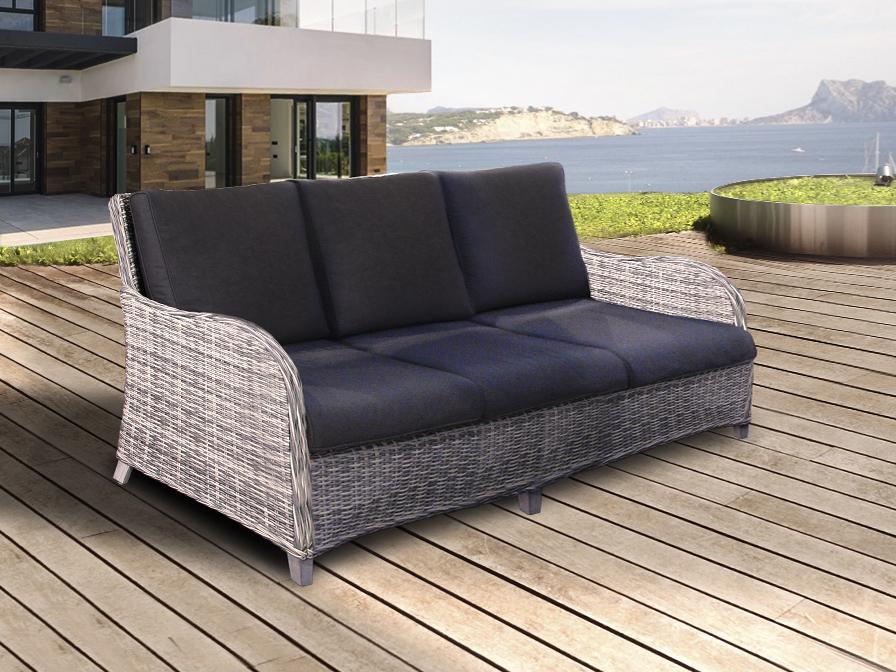 Sofa exterior benoa blanco gris schuller for Sofa exterior aluminio blanco