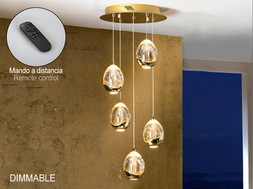 LAMPARA ROCIO 5 LED ORO DIMMABLE