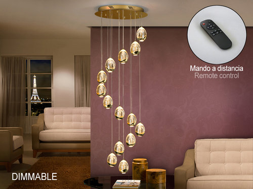 LAMPARA ROCIO 14 LED ORO DIMMABLE